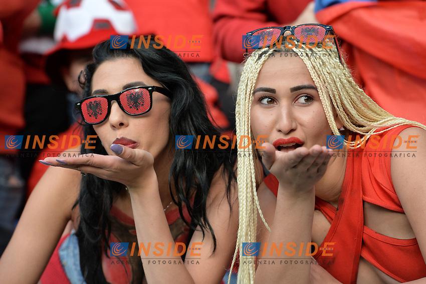 Tifose Albania Fans <br /> Lyon 19-06-2016 Stade de Lyon Footballl Euro2016 Albania - Romania Group Stage Group A. Foto Frederic Chambert / Panoramic / Insidefoto