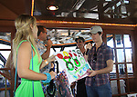General Hospital Kristen and One Life To Live Eddie Alderson and Christian LeBlanc at SoapFest's Celebrity Weekend - Cruisin' and Schmoozin' on the Marco Island Princess - mix and mingle and watching dolphins - autographs, photos, live auction raising money for kids on November 11, 2012 Marco Island, Florida. (Photo by Sue Coflin/Max Photos)
