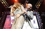 Jennifer Lopez and Pitbull on stage at The KIIS FM Wango Tango 2011 held at The Staples Center in Los Angeles, California on May 14,2011                                                                   Copyright 2011  DVS / RockinExposures