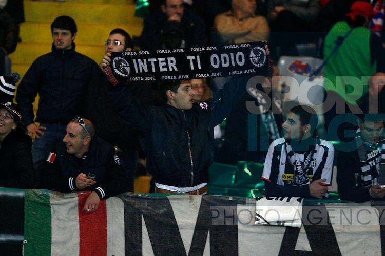 Juventus fans insult Inter Milan fans