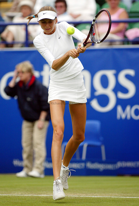 Photograph: Scott Heavey..Hastings Direct International Championships at Eastbourne. 19/06/2003..Daniela Hantuchova