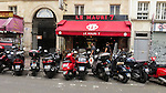VMI Vincentian Heritage Tour: Scooters outside shops in the African community along the Rue du Faubourg near the Porte Saint-Denis, Thursday, June 23, 2016, as they toured Vincentian sites in Paris. (DePaul University/Jamie Moncrief)