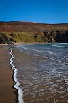 Atlantic waves breaking on the beach at Silver Strand, Or Trabane Beach, near Malin Beg, Donegal, on Ireland's Wild Atlantic Way.