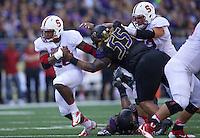 SEATTLE WA - Saturday, September 27, 2014: Stanford beats the University of Washington 20-13 at Husky Stadium in Seattle.