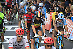 Belgian National Champion Oliver Naesen (BEL) AG2R La Mondiale crosses the finish line of Stage 2 of the 104th edition of the Tour de France 2017, running 203.5km from Dusseldorf, Germany to Liege, Belgium. 2nd July 2017.<br /> Picture: Eoin Clarke | Cyclefile<br /> <br /> <br /> All photos usage must carry mandatory copyright credit (&copy; Cyclefile | Eoin Clarke)