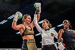 li: Christina Hammer - Siegerpose / beim Kampf Christina Hammer (GER) vs. Florence Muthoni (KEN) - Middleweight ; Boxen: ECB ECBOXING am 08.02.2020 in Goeppingen (EWS Arena), Baden-Wuerttemberg, Deutschland.<br /> <br /> Foto © PIX-Sportfotos *** Foto ist honorarpflichtig! *** Auf Anfrage in hoeherer Qualitaet/Aufloesung. Belegexemplar erbeten. Veroeffentlichung ausschliesslich fuer journalistisch-publizistische Zwecke. For editorial use only.