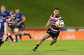 Tim Nanai-Williams. Mitre 10 Cup game between Counties Manukau Steelers and Tasman Mako's, played at ECOLight Stadium Pukekohe on Saturday October 14th 2017. Counties Manukau won the game 52 - 30 after trailing 22 - 19 at halftime. <br /> Photo by Richard Spranger.