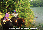 Outdoor recreation, Mother and Daughter Horseback Riding, PA Wilderness, York Co., PA, Trails and Park Lake