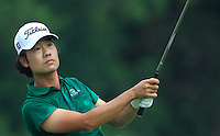 Kevin Na (USA) on the 7th tee during Round 3 of the CIMB Classic in the Kuala Lumpur Golf & Country Club on Saturday 1st November 2014.<br /> Picture:  Thos Caffrey / www.golffile.ie