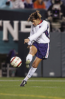 06 November,  2004.   USWNT forward Mia Hamm (9) shoots the ball at  Lincoln Financial Field in Philadelphia, Pa.