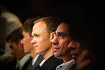 Recently retired Alberto Contador (ESP) at the Tour de France 2018 route presentation held at Palais de Congress, Paris, France. 17th October 2017.<br /> Picture: ASO/Bruno Bade | Cyclefile<br /> <br /> <br /> All photos usage must carry mandatory copyright credit (&copy; Cyclefile | ASO/Bruno Bade)