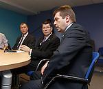 Stewart Regan, Neil Doncaster and David Longmuir