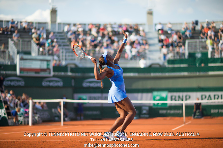 SLOANE STEPHENS (USA)<br /> <br /> TENNIS - FRENCH OPEN - ROLAND GARROS - ATP - WTA - ITF - GRAND SLAM - CHAMPIONSHIPS - PARIS - FRANCE - 2016  <br /> <br /> <br /> <br /> &copy; TENNIS PHOTO NETWORK