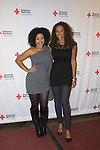 Guiding Light's Yvonna Wright poses with her cousin Allysa Shorte at the 9th Annual Rock Show for Charity to benefit the American Red Cross of Greater New York on October 9, 2010 at the American Red Cross Headquarters, New York City, New York. (Photos by Sue Coflin/Max Photos)