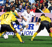 USMNT vs Jamaica, 2001 in Foxboro, MA, October 7, 2001. John O'Brien.