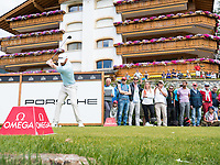 Sebastian Soderberg (SWE) in action on the 7th hole during final round at the Omega European Masters, Golf Club Crans-sur-Sierre, Crans-Montana, Valais, Switzerland. 01/09/19.<br /> Picture Stefano DiMaria / Golffile.ie<br /> <br /> All photo usage must carry mandatory copyright credit (© Golffile | Stefano DiMaria)