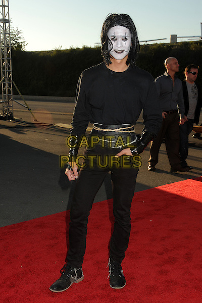 "Boo Boo Stewart.18th Annual ""Dream Halloween"" To Benefit The Children Affected By AIDS Foundation held at Barker Hangar, Santa Monica, California, USA, .29th October 2011 .hallowe'en costume dressed up full length black   facepaint joker  .CAP/ADM/BP.©Byron Purvis/AdMedia/Capital Pictures."