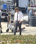 September 22nd  2012 <br /> <br /> Emily Deschanel &amp; David Boreanaz filming the tv show Bones in Malibu California wearing a Cocky belt buckle <br /> <br /> <br /> AbilityFilms@yahoo.com<br /> 805 427 3519<br /> www.AbilityFilms.com