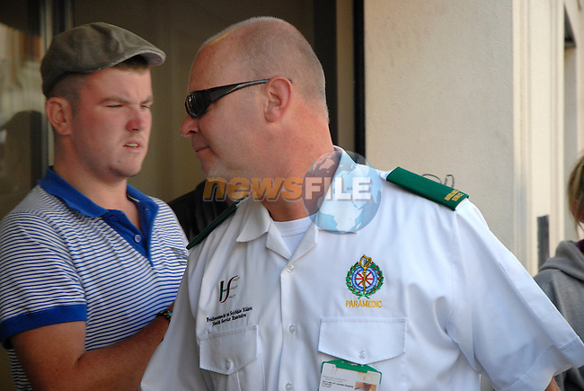 HSE paramedic Tom McDonnell.at drogheda Court for the inquest into the death of Simon McDonagh. Where Mr Alan Floyd alleged that the members of the coast guard done nothing to help the casualty, and disagreed with the HSE paramedic on his timings..Picture www.newsfile.ie