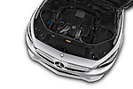 Car Stock 2017 Mercedes Benz S-Class AMG-Line 2 Door Convertible Engine  high angle detail view