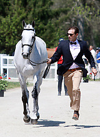 LEXINGTON, KY - April 26, 2017. #64 Tight Lines and William Coleman III from the USA at the Rolex Three Day Event First Horse Inspection at the Kentucky Horse Park.  Lexington, Kentucky. (Photo by Candice Chavez/Eclipse Sportswire/Getty Images)