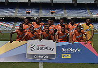CALI - COLOMBIA, 23-02-2020: Jugadores del Llaneros posan para una foto previo al partido por la fecha 4 de la Torneo BetPlay DIMAYOR I 2020 entre Boca Juniors de Cali y Llaneros F.C. jugado en el estadio Pascual Guerrero de la ciudad de Cali. / Players of Llaneros pose to a photo prior match for the for the date 4 as part of BetPlay DIMAYOR Tournament I 2020 between Boca Juniors de Cali and Llaneros F.C. played at Pascual Guerrero stadium in Cali. Photo: VizzorImage / Gabriel Aponte / Staff