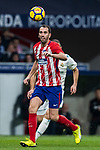 Diego Roberto Godin Leal of Atletico de Madrid in action during the La Liga 2017-18 match between Atletico de Madrid and Real Madrid at Wanda Metropolitano  on November 18 2017 in Madrid, Spain. Photo by Diego Gonzalez / Power Sport Images