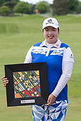 28th May 2017, Ann Arbor, MI, USA;  Shanshan Feng, of China, poses with the winner's trophy during the awards ceremony at the conclusion of the final round of the LPGA Volvik Championship on May 28, 2017 at Travis Pointe Country Club in Ann Arbor, Michigan.