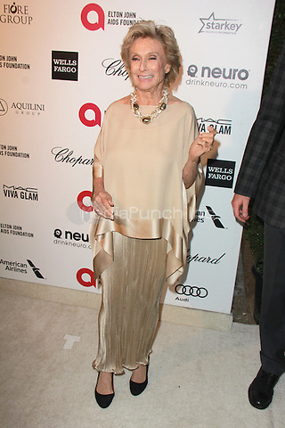 WEST HOLLYWOOD, CA - FEBRUARY 22: Cloris Leachman at the 2015 Elton John AIDS Foundation Oscar Party in West Hollywood, California on February 22, 2015. Credit: David Edwards/DailyCeleb/MediaPunch
