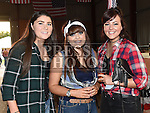 Therese Ferguson, Shauna Barnett and Emily Brangan at the charity barn dance in Cushinstown Athletic Club. Photo:Colin Bell/pressphotos.ie