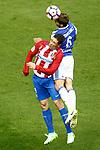 Atletico de Madrid's Fernando Torres (l) and Real Sociedad's Inigo Martinez during La Liga match. April 4,2017. (ALTERPHOTOS/Acero)