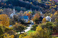 Charming village of Topsham, Vermont, USA.