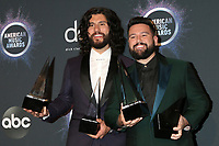 LOS ANGELES - NOV 24:  Dan Smyers, Shay Mooney, Dan + Shay at the 47th American Music Awards - Press Room at Microsoft Theater on November 24, 2019 in Los Angeles, CA