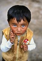 Kham, Tibet 2005. Tibetan boy, Luhuo, Kham Tibet, 2005