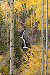 Beautiful Nellie Creek Falls is located just off the Alpine Loop, near Lake City Colorado.
