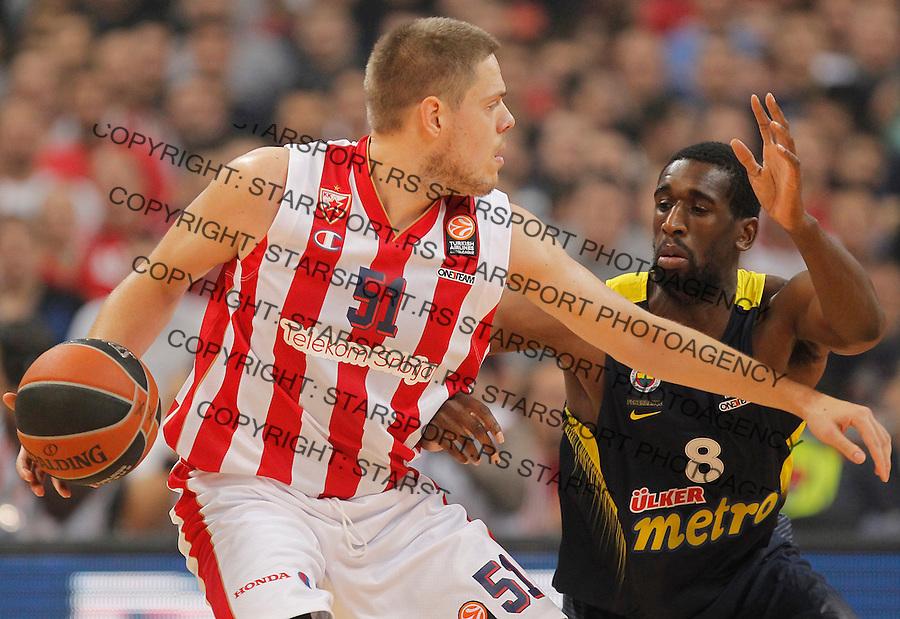 Kosarka Euroleague season 2015-2016<br /> Euroleague <br /> Crvena Zvezda v Fenebahce Istanbul<br /> Vladimir Stimac and Ekpe Udoh (R)<br /> Beograd, 06.11.2015.<br /> foto: Srdjan Stevanovic/Starsportphoto &copy;