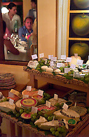 A rarity in South America, a wide array of imported cheeses sit on display at the La Bourgogne restaurant in Punta del Este, Uruguay. The restaurant is considered the best in the country. The venerable South American beach resort is having a rennaisance. (Kevin Moloney for the New York Times)