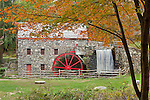 Autumn at the Wayside Inn Gristmill in Sudbury, MA, USA
