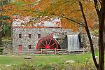 Autumn at the Wayside Inn Gristmill in Sudbury, MA, USA
