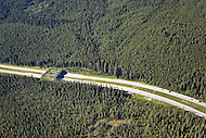 Wildlife overpass across the highway in Banff National Park