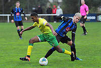 Action from the Central League Football match between Miramar Rangers and Lower Hutt City AFC at David Farrington Park in Wellington, New Zealand on Saturday, 20 June 2020. Photo: Dave Lintott / lintottphoto.co.nz