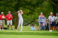 Klara Spilkova (CZE) watches her tee shot on 17 during Friday's round 2 of the 2017 KPMG Women's PGA Championship, at Olympia Fields Country Club, Olympia Fields, Illinois. 6/30/2017.<br /> Picture: Golffile | Ken Murray<br /> <br /> <br /> All photo usage must carry mandatory copyright credit (&copy; Golffile | Ken Murray)