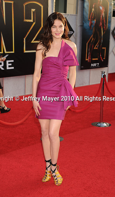 """HOLLYWOOD, CA. - April 26: Michelle Monaghan arrives at the """"Iron Man 2"""" World Premiere held at the El Capitan Theatre on April 26, 2010 in Hollywood, California."""
