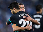 Marco Asensio Willemsen of Real Madrid celebrates his goal with teammate Lucas Vazquez during the Copa del Rey 2017-18 match between CD Leganes and Real Madrid at Estadio Municipal Butarque on 18 January 2018 in Leganes, Spain. Photo by Diego Gonzalez / Power Sport Images