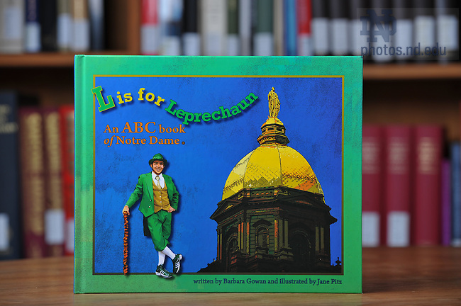 """L is for Leprechaun"" book, for Library Access Newsletter..Photo by Matt Cashore/University of Notre Dame"