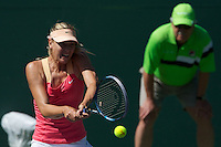 KEY BISCAYNE, FL - MARCH22: Maria Sharapova competes during Day 4 of the Sony Ericsson Open in Miami on March 22nd, 2012 in Key Biscayne, FL. ( Photo by Chaz Niell/Media Punch Inc.)