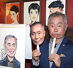Sardi's caricature unveiling for George Takei