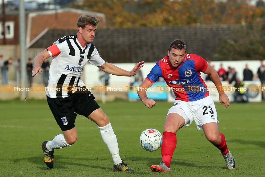 Alan Massey of Maidenhead United and Michael Cheek of Dagenham during Maidenhead United vs Dagenham & Redbridge, Vanarama National League Football at York Road on 28th October 2017