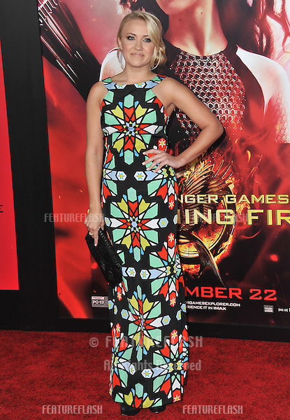 Emily Osment at the US premiere of &quot;The Hunger Games: Catching Fire&quot; at the Nokia Theatre LA Live.<br /> November 18, 2013  Los Angeles, CA<br /> Picture: Paul Smith / Featureflash