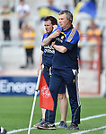 Donal Moloney, Clare joint manager, on the sideline during their All-Ireland quarter final against Wexford at Pairc Ui Chaoimh. Photograph by John Kelly.